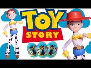 Disney Toy Story Jessie Doll with Paw Patrol Surprise eggs!!!