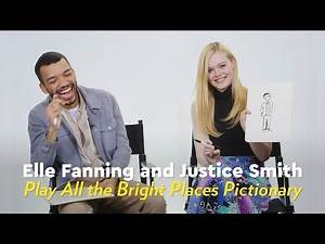 Elle Fanning and Justice Smith Play All the Bright Places Pictionary   POPSUGAR Pictionary