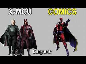 10 X-MCU vs Marvel Comics Character Comparison #1
