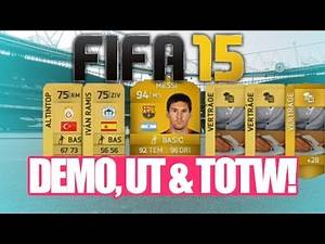 FIFA 15 DEMO, ULTIMATE TEAM WEB APP & FIRST TOTW POSSIBLE RELEASE DATES!