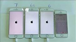 iPhone 6 vs 6S vs 7 Power down and Boot up Test