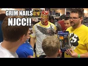 Grim's Toy Show ep 780: NJCC! WWE Mattel wrestling action figures dealer room FUN