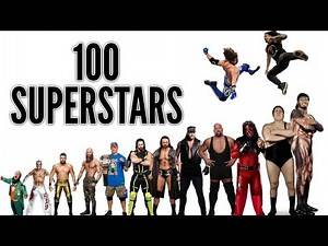 WWE Height Comparison (100 Superstars)