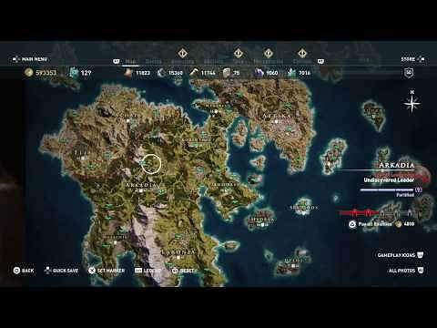 Assassin's Creed Odyssey - Full World Map ALL LOCATIONS 100% (Biggest Open World Game)