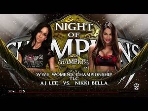 WWE 2K15 women's title AJ LEE VS NIKKI BELLA NIGHT OF CHAMPIONS PROMO