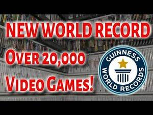 LARGEST Video Game Collection EVER (Over 20,000 Games!) OFFICIAL 2019 Guinness Book World Record