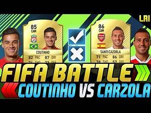 FIFA 17 - FIFA BATTLE! COUTINHO VS CAZORLA! - FIFA 17 ULTIMATE TEAM