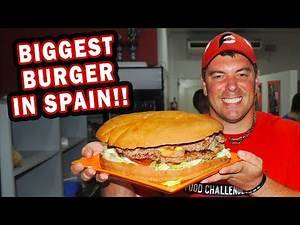 Spain's Largest Undefeated Gladiator Burger Challenge!!