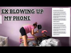 Ex Blowing Up My Phone Prank ! **Gone Way Too Far**