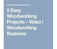 5 easy woodworking projects Video