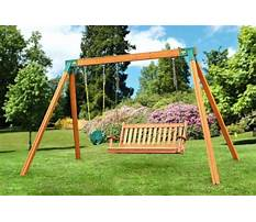A frame for swing set plans Video