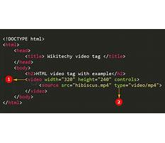 A html tag Video