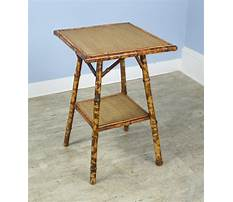 Antique bamboo end table Video