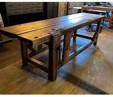 Antique carpenters workbench Video