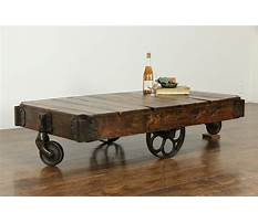 Antique industrial cart coffee table Video