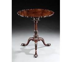Antique pedestal table Video