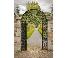 Arched garden gate with frame Video