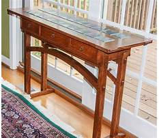 Arts and crafts sofa table plans Video