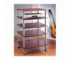 Audio rack with casters Video