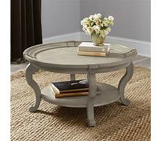 Ballard design round coffee table Video