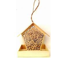 Balsa wood bird feeder Video