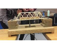Balsa wood bridge projects Video