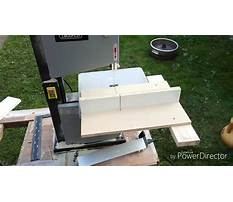 Band saw mitre jig Video