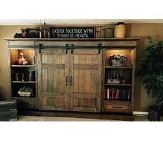 Barn door entertainment cabinets Video