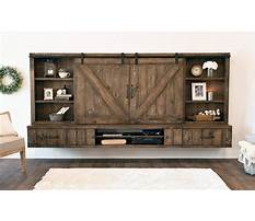 Barn door entertainment center hardware Video