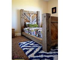 Barnwood bed frame plans Video