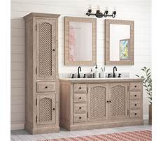 Bathroom vanity with linen cabinet Video