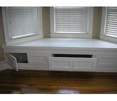 Bay window benches with storage plans Video