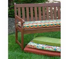 Bench chair cushions Video