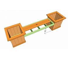 Bench planter plans free Video