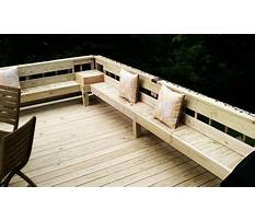 Bench seating around deck Video