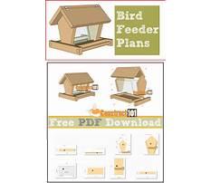 Bird feeder building plans Video