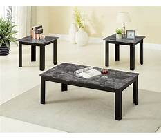 Black faux marble coffee and end tables Video