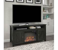 Black tv stand with electric fireplace Video