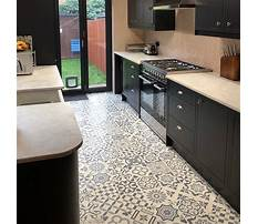 Blue kitchen flooring tile Video