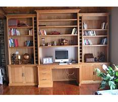 Bookcase and desk wall unit Video
