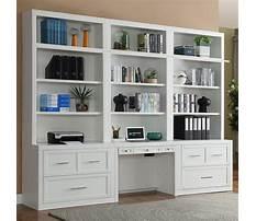 Bookcase desk wall unit white Video