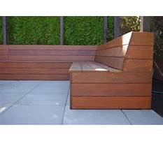 Build a bench seat with slanted back Video