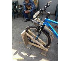 Build a bike rack from wood Video