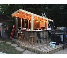 Build a outdoor patio bar Video