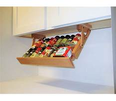 Build an under cabinet spice rack Video