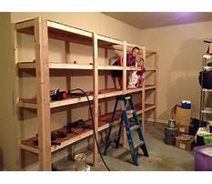 Build sturdy garage shelving Video