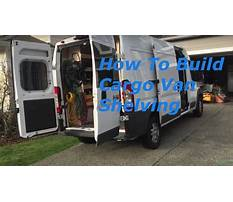 Build wood shelves in a ram promaster Video