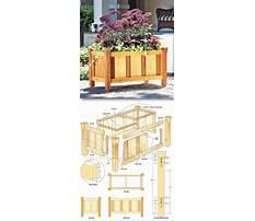 Build wooden planter box plans Video