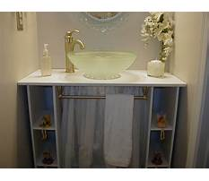 Build your own bathroom vanity table Video