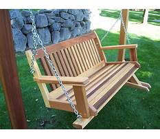 Build your own wooden porch swing Video